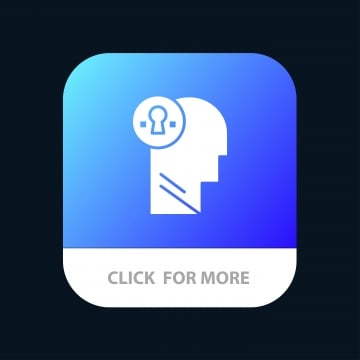 Mind,brian,award,head Mobile App Button Android And Ios Glyp