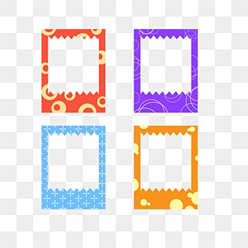 Cartoon Frame Photo Paper Elements, Cartoon Cute Style, Color Border, Abstract Graphics PNG and Vector
