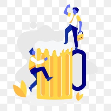 office worker celebration with beer illustration concept, Beer, Party, Office PNG and Vector