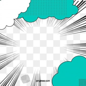 Cartoon Style Speed Line Elements, Cloud Decoration, Pixel Points, Cartoon Style PNG and Vector