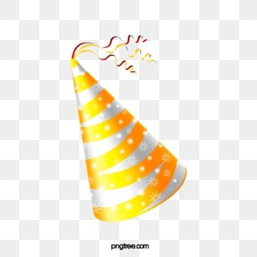 Luxury birthday hat for the golden gloss party, Gloss, Hat, Party PNG and Vector