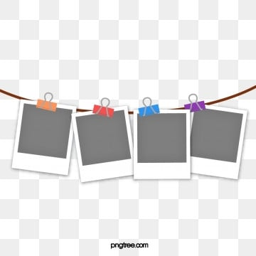 polaroid photo paper hanging line colour clip photo paper, Clip, Polaroid, Color PNG and Vector