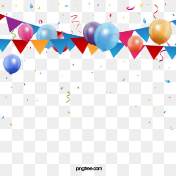 The Pure Flag Element of Balloon Scraps for Parties, Triangle, Color Chip, Coloured Ribbon PNG and Vector