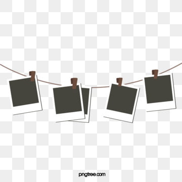 three dimensional creative hanging rope polaroid paper hanging rope, Creative, Sling, Polaroid PNG and Vector