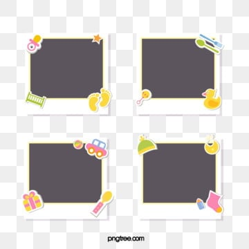 yellow baby diary paper, Cartoon, Baby, Polaroid PNG and Vector