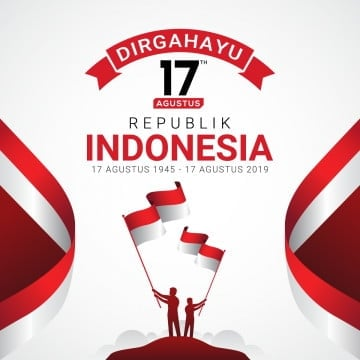 happy indonesia independence day greeting card, Indonesia, Day, Flag PNG and Vector