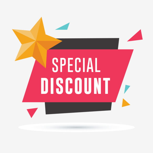 Special Discount Banner With Star And Geometric Shapes, Sale