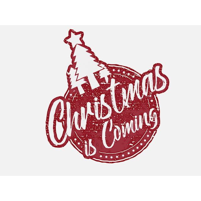 Vector Grunge Christmas Stamp With Christmas Tree Stamp