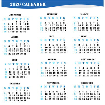 2020 Calendar PNG Images | Vector and PSD Files | Free ...