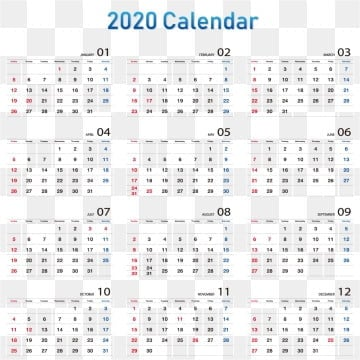 Calendario 2020 Vector Gratis.2020 Png Images Vector And Psd Files Free Download On