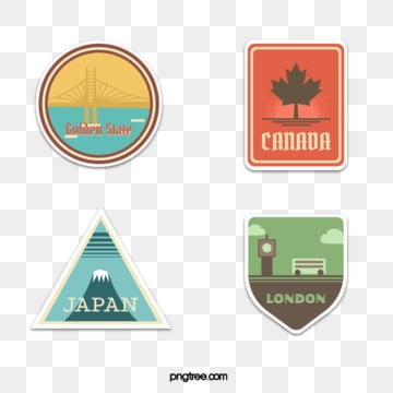 retro travel illustration sticker, London, Canada, Double-decker Bus PNG and Vector