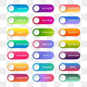 Website Buttons Png, Vector, PSD, and Clipart With