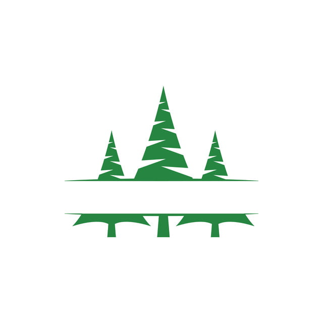 pine tree clip art graphic design template vector isolated