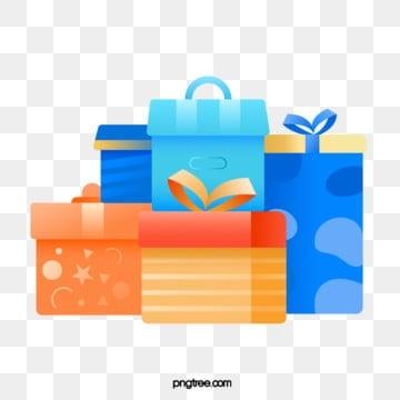 Regali di compleanno colorati, Lucentezza, Scatole Di Imballaggio, Laccumulo Di PNG e Vector
