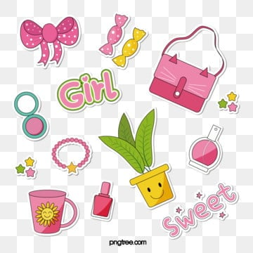 cute cartoon  paper sticker, Bag, Cartoon,  PNG and Vector