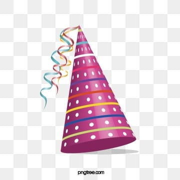Purple Texture Party Hat, Ribbon, Gloss, Carnival PNG and Vector