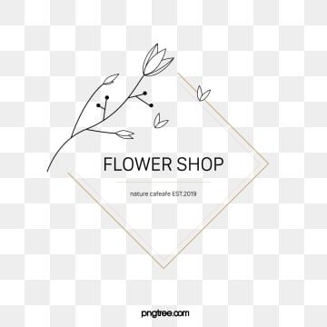 simple line draft flower shop design, Leaf, Simple, Line PNG and Vector