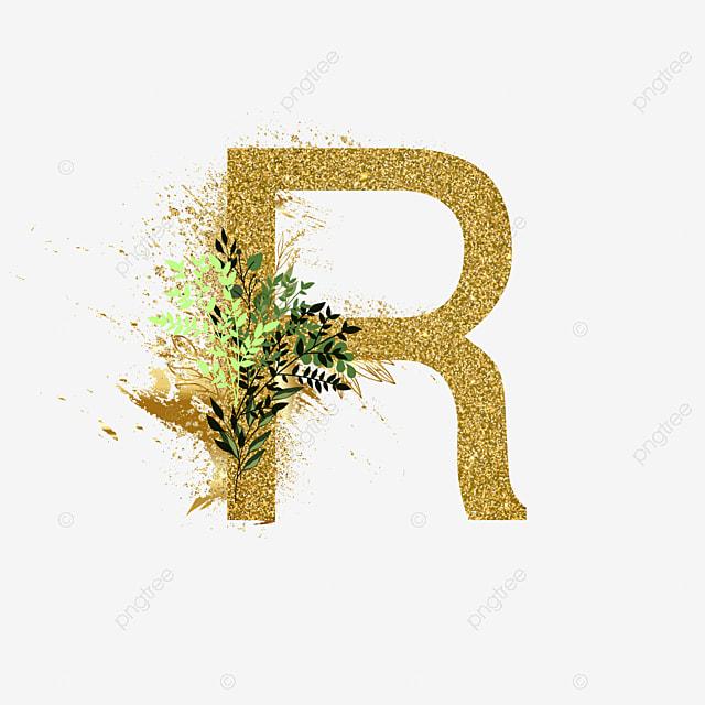 Floral Alphabet Set Letter R Text Effect Ai For Free Download