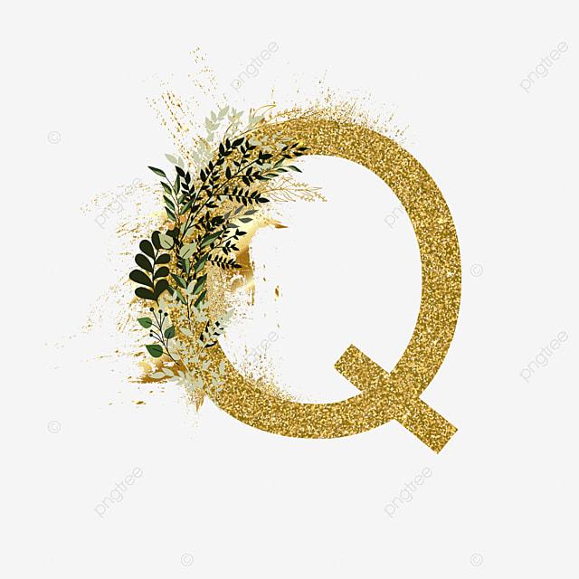 Floral Gold Alphabet Set Letter Q Text Effect Ai For Free