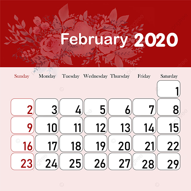 Calendario 2020 2020 Para Imprimir.Month Calendar 2020 February Template For Free Download On Pngtree