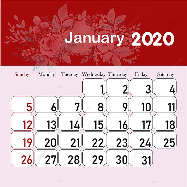 Calendario Mes De Enero 2020.Mes Calendario 2020 Enero Descarga Gratuita De Plantilla En