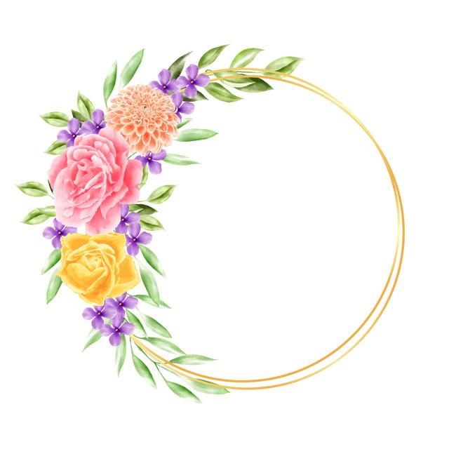 Gambar Multiframe Flower Watercolor Background Undangan Pernikahan,  Pernikahan, Dekorasi, Rancangan PNG Dan Vektor Dengan Latar Belakang  Transparan Untuk Unduh Gratis