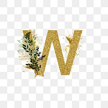 floral letter w alphabet Fonts