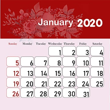 2020 Calendar Png Images Vector And Psd Files Free