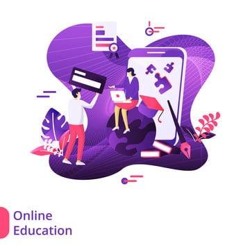ऑनलाइन शिक्षा आधुनिक चित्रण, सिर शिकार की अवधारणा, इस्तेमाल किया जा सकता है लैंडिंग पृष्ठों के लिए, वेब पीएनजी और वेक्टर