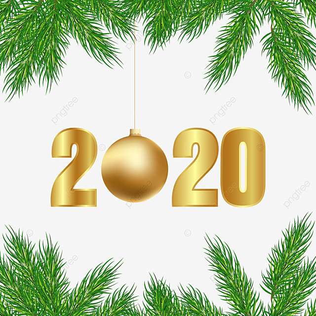 Christmas Tree Decoration Happy New Year 2020 Text Effect AI