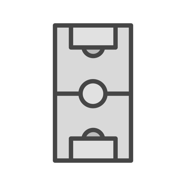 Fussballplatz Symbol Trendigen Stil Isoliert Hintergrund