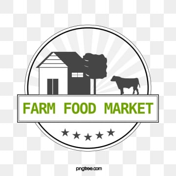farm food supermarket sign, Farm, Black, Green PNG and Vector