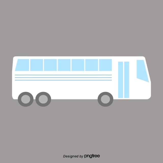 Gambar Kartun Kereta Penumpang Bas Putih Rata Sejuk Bas Putih Bus Png Dan Vektor Untuk Muat Turun Percuma