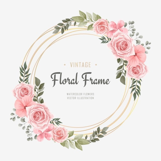 vintage wedding watercolor flower frame background pattern flower png and vector with transparent background for free download vintage wedding watercolor flower frame