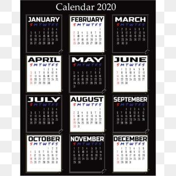 Calendario Vino 2020.2020 Calendar Png Images Vector And Psd Files Free