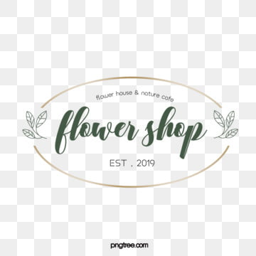 simple style chic green metal border linear print floral decoration florist logo, Simple, Vector, Line PNG and Vector