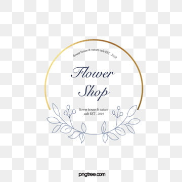 simple style metal frame lineart flower shop logo, Simple, Metal Frame, Florist PNG and Vector