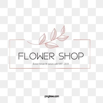 simple style rose gold line draft flower shop logo, Vector, Spray, Linear Flower PNG and Vector
