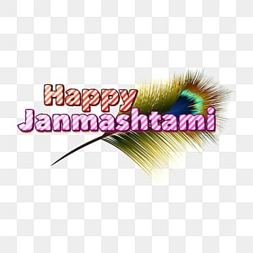 happy janmashtami peacock feather Fonts