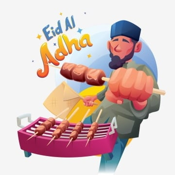 eid al adha grilling beef satay, Arab, Arabian, Arabic PNG and Vector
