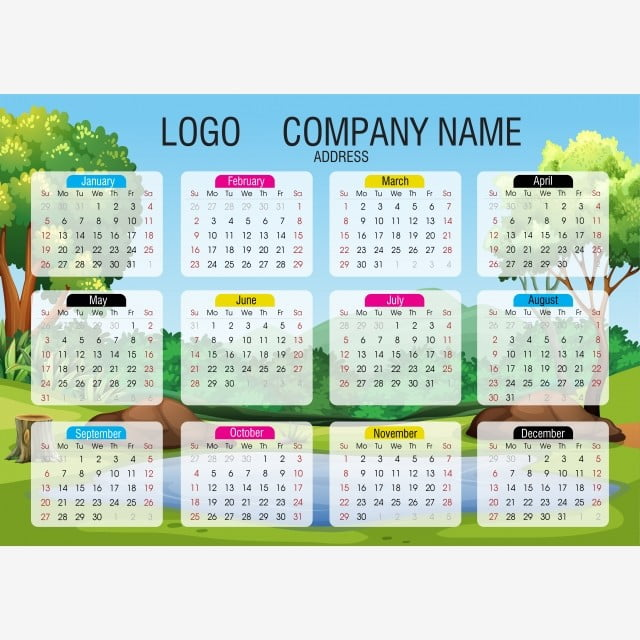 2020 Calendar New Illustrator File, 2020, Date, Calendar2020