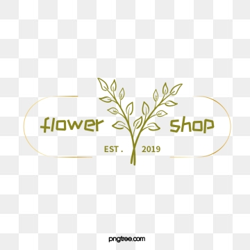 dark green hand painted florist logo illustrations, Hand Painted, Leaf, Soft Pale PNG and Vector