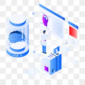 artificial intelligence isometric illustration concept  isometric flat design concept of web page design for website and mobile website vector illustration, Isometric, Technology, Intelligence PNG and Vector