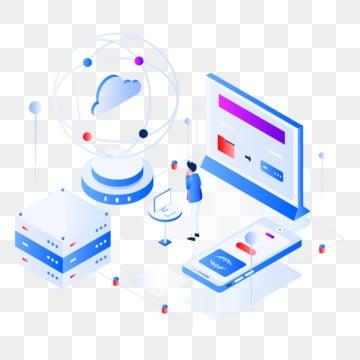 big data isometric illustration concept, Isometric, Data, Digital PNG and Vector