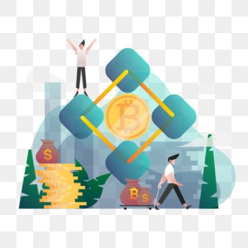 blockchain illustration concept  gradient color design concept of web page design for website and mobile website vector illustration, Vector, Design, Illustration PNG and Vector