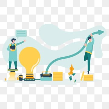 business idea illustration concept  modern flat design concept of web page design for website and mobile website vector illustration, Business, Creative, Idea PNG and Vector