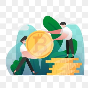 cryptocurrency exchange illustration concept  gradient color design concept of web page design for website and mobile website vector illustration, Money, Business, Exchange PNG and Vector