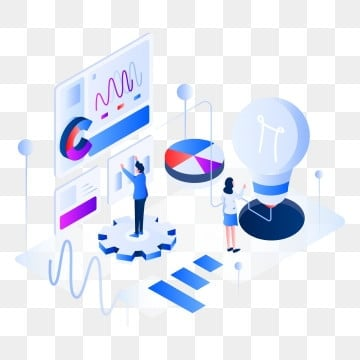 data analysis isometric illustration concept  isometric flat design concept of web page design for website and mobile website vector illustration, Isometric, Data, Business PNG and Vector