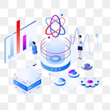 data science isometric illustration concept of web page design for website, Isometric, Science, Technology PNG and Vector