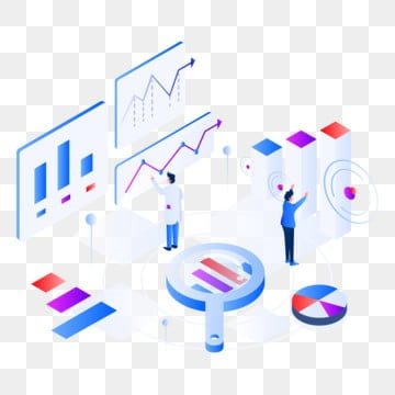 graph analysis isometric illustration concept  isometric flat design concept of web page design for website and mobile website vector illustration, Isometric, Analysis, Business PNG and Vector